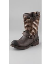 Ash | Brown Trash Studded Flat Boots | Lyst