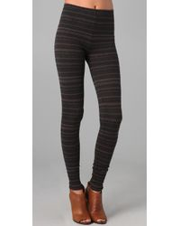 Free People - Gray Globetrotter Legging in Coal - Lyst