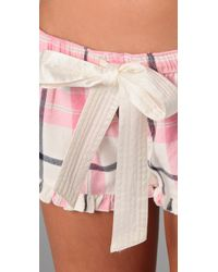 Juicy Couture - Pink Flannel Boxer Shorts - Lyst