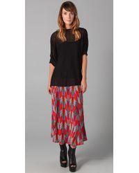Mara Hoffman - Brown Maxi Skirt - Lyst