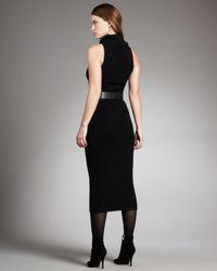 Ralph Lauren Black Label - Black Cashmere Turtleneck Dress - Lyst