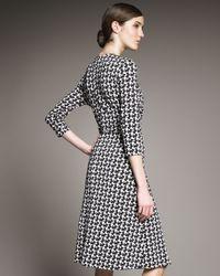 Rena Lange | Gray Jersey Scottie-print Dress | Lyst