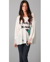 Wildfox | Natural Really A Mermaid Sweater | Lyst
