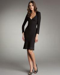 Zac Posen Black Laser-cut Open-back Dress