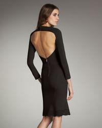 Zac Posen - Black Laser-cut Open-back Dress - Lyst
