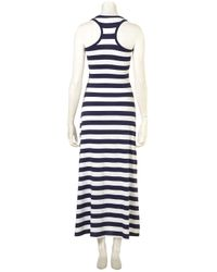 TOPSHOP - Blue Striped Jersey Maxi By Wal G** - Lyst