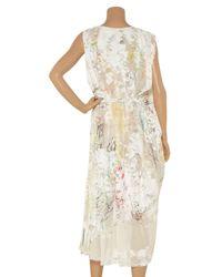 Alexander Wang - White Printed Silk-chiffon Wrap Dress - Lyst