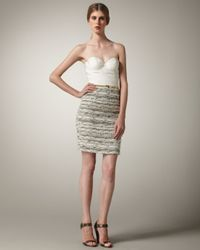 Alice + Olivia | Gray Elena Bustier Dress | Lyst