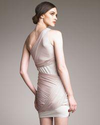 Alice + Olivia - Natural Draped One-shoulder Goddess Dress - Lyst