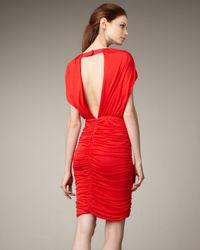 Alice + Olivia - Red Nanette Ruched Skirt Dress - Lyst