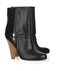 Belle By Sigerson Morrison - Black Fold-over Leather Boots - Lyst