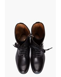 Common Projects - Black Officers Combat Boots for Men - Lyst