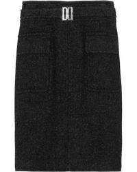 Daks Black Belted Wool-felt Skirt