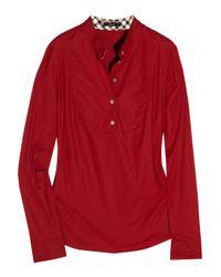 Daks Red Stretch-cotton Top