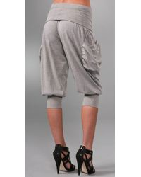 L.A.M.B. - Gray French Terry Harem Pants - Lyst