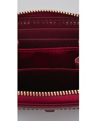 Marc By Marc Jacobs Red Preppy Nylon Mini Zip Around Wallet