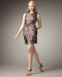 Nanette Lepore | Multicolor Gotham Stakes Printed Dress | Lyst
