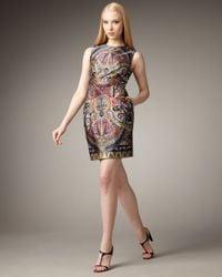 Nanette Lepore Multicolor Gotham Stakes Printed Dress
