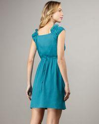 Nanette Lepore | Blue Sleeveless Ruffle Runnin Wild Dress | Lyst