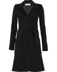 Paul & Joe Black Ferguson Belted Cotton-blend Coat