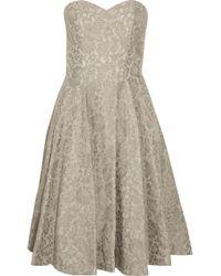 Paul & Joe Brown Romance Lace Bustier Dress