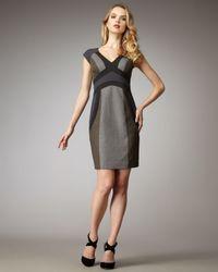 Rebecca Taylor | Gray Band-pattern Flannel Dress | Lyst