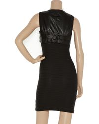 Robert Rodriguez Black Cropped Textured-leather Vest