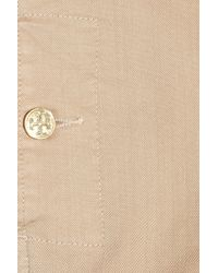 Tory Burch Natural Stretch Cotton-twill Shorts