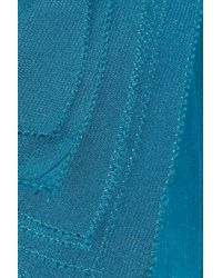 Twenty8Twelve Blue Verushka Silk and Wool-blend Dress