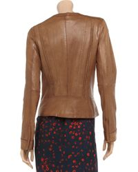 Vince Brown Woven Leather Jacket