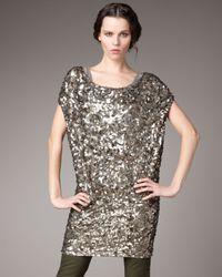 Vince   Metallic Ring Sequin Dress   Lyst