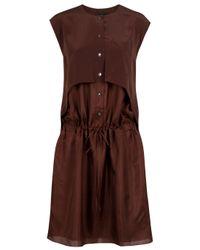 Alexander Wang | Brown Sleeveless Shirt Dress | Lyst