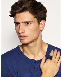 ASOS Collection - Black Asos Super Pyramid Stud Ring for Men - Lyst