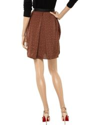 By Malene Birger Brown Mirble Studded Crepe Skirt