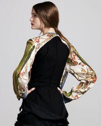 Comme des Garçons - Black Floral-print Jacket - Lyst