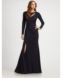 David Meister - Blue Jersey Cutout Gown - Lyst