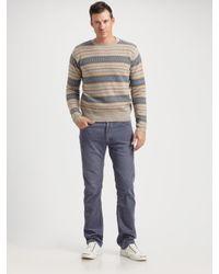 Gant Rugger   Brown Fair Isle Sweater for Men   Lyst