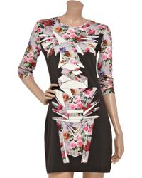 Jonathan Saunders - Multicolor Floral Totem Bodycon Dress - Lyst