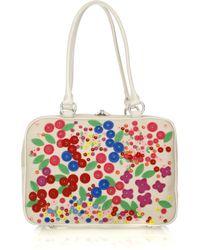 Lulu Guinness Multicolor Jenny Large Appliqué Shoulder Bag