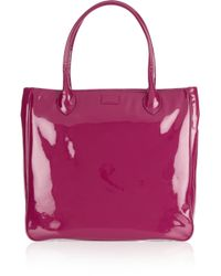 Lulu Guinness Pink Elouise Large Cameo Patent-leather Tote