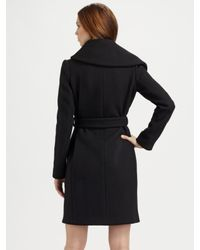 Martin Grant - Black Wool Belted Coat - Lyst