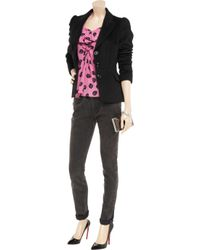 Boutique Moschino Pink Dice-print Silk Blouse