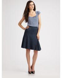 Nanette Lepore | Blue Seduce Me Skirt | Lyst