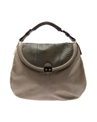 Pauric Sweeney | Gray Python Slouch Bag | Lyst