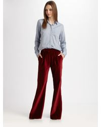 Steven Alan | Red Francis Pleated Dress Pants | Lyst