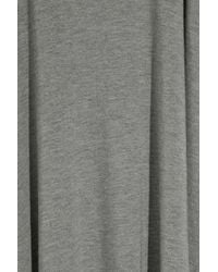T By Alexander Wang - Gray Modal Asymmetrical Long Tank Dress - Lyst