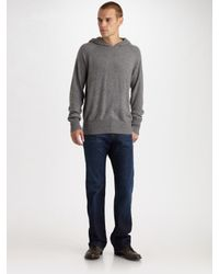 T By Alexander Wang | Gray Pullover Hoodie for Men | Lyst