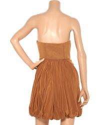 Tibi Orange Corina Embroidered Linen-blend Dress