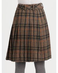 Tory Burch - Brown Lula Plaid A-line Skirt - Lyst