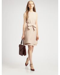 Valentino | Natural Bow Belt Dress | Lyst